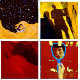 freetoedit collageart tothemoon yellow sunnyshadows