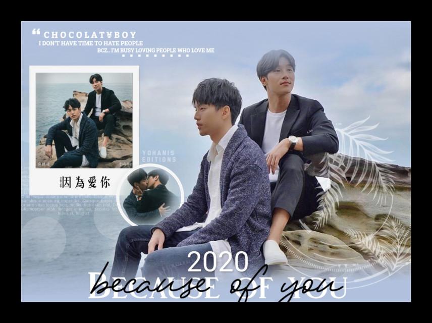 Because of you  2020 series BL ♡ . . Integrantes: Lee Si Kang and Mou Jun Hsu App: PS Touch y PicsArt  Efecto: PicsArt  Tiempo: 1 hora Tipo de edición: Portada ♡ - - #freetoedit #picsart #becauseofyou #muji #becauseofyou2020 #bl #seriesbl