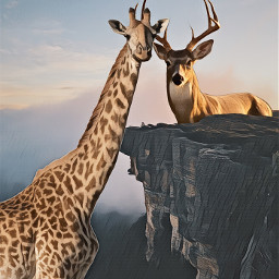 freetoedit giantanimalchallenge giantanimals giraffes girafferemix ecgiantanimals createfromhome stayinspired