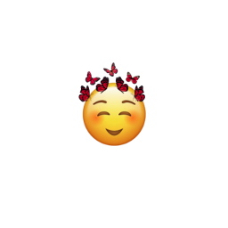 emoji butterflies emojicrown crown freetoedit