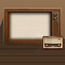 freetoedit retro frame tv ftestickers