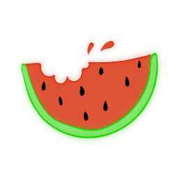 freetoedit neon watermelon ftestickers remixit