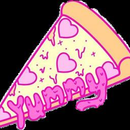 yummy pizza kawaii foodstickers japan