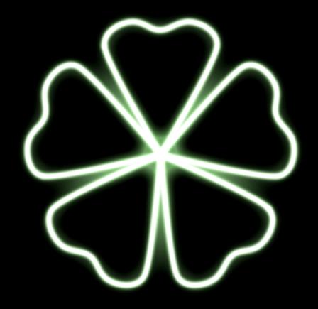 #lucky #glow #clover #neon