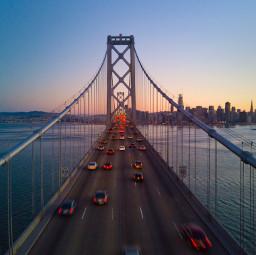 urban bridge cars background backgrounds freetoedit