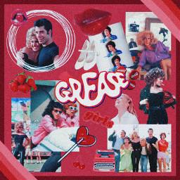 grease musical movie vintage red freetoedit