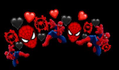spiderman crown red black freetoedit