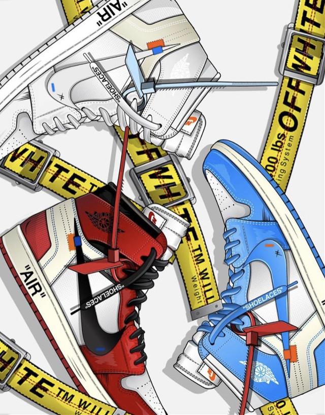 #offwhite #off-white #airjordan #jordan1 #jordan #shoe #sneaker #sneakerheads #sneakersaddict #fashon #expensive #shoes #red #blue #white #freetoedit