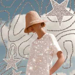 workfromhome freetoedit stars glitter vintage
