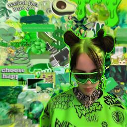freetoedit billieeilish greenaesthetic greenery hard