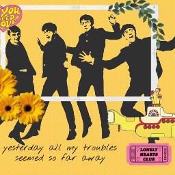 freetoedit thebeatles yellowaesthetic yellowsubmarine yesterday
