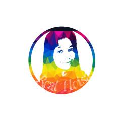 vectorshock facelogo rainbow colorsplash experimentation
