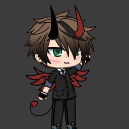 freetoedit boy demon redwings tuxedo scars