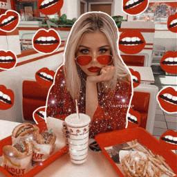 freetoedit retro vintage mouth food
