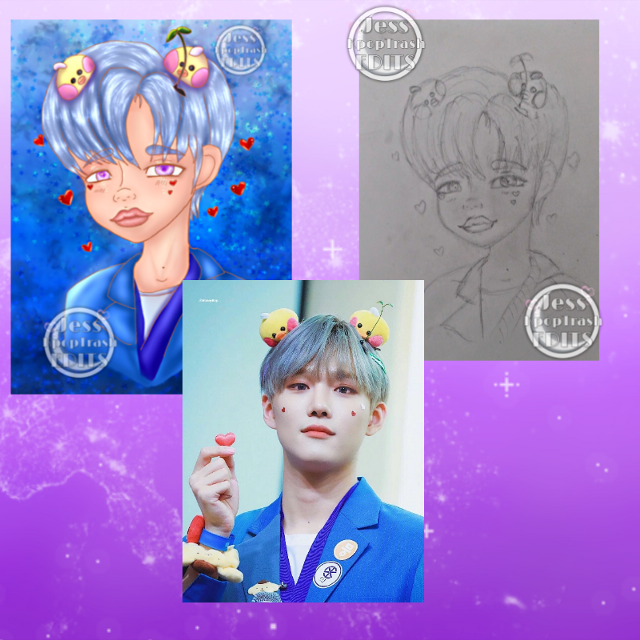 Seunghun reference photo and both my drawings pencil and digital side by side photos 🙈💖🌸  ~ this is my last post for a very long time loves please take care I love ya'll so much and will miss y'all 😭🙏 be safe and stay strong 🙏💖🌸   #kpop #kpopedits #cix #KimSeunghun #cixseunghun