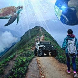 freetoedit world dunia pemandangan jeep