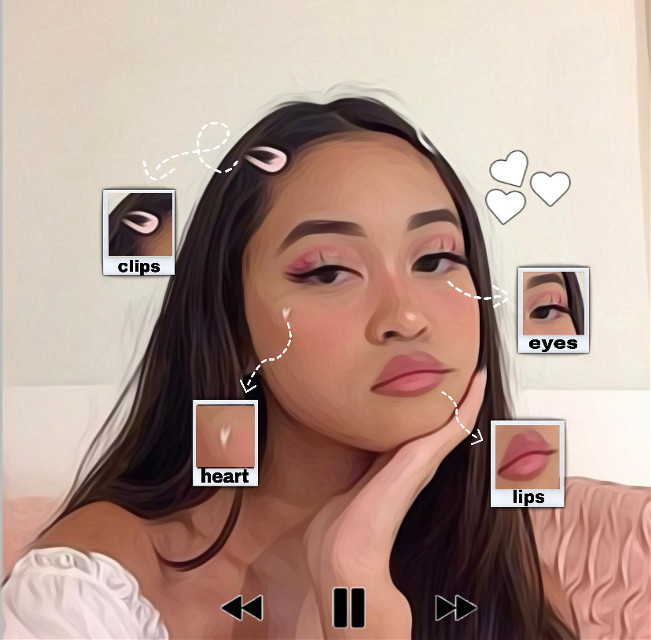 the girl in the picture's insta: @madeleinesan_  show it love pwetty pwease it took a long twime 👉🏻👈🏻#freetoedit #girl #tiktok #instagtam #cute #heart #itried #pausebutton #polaroid #love #makeup #aestethic #art #picsart #filter #oilpaintingeffect #pink #vibes #lazy #tired