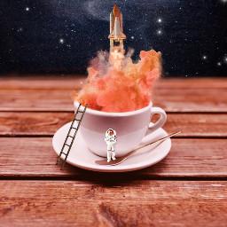 tinypeople space spaceship galactic smoke freetoedit