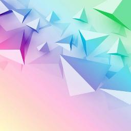 pastel shapes gradient ombre fade