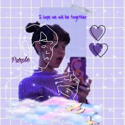 freetoedit purple girl aesthetic begold👑