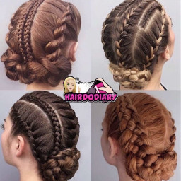 buns braids hair haircut hairstyles