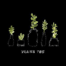 thankyou nature plants stickers freetoedit