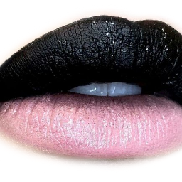 lips look makeup black pink freetoedit