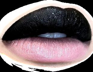 lips look makeup black pink freetoedit