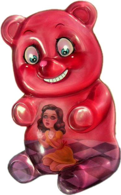 #freetoedit #gummybear #trap #trapped #red #girl