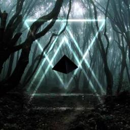 piramide pyramid alienart alieninvasion neon freetoedit. freetoedit