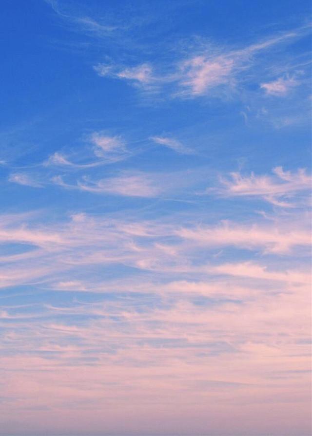 #nature #sunrise #skyandclouds #morningsunriselight #pinkclouds in a #bluesky #nofilternoedit #naturephotography   #freetoedit