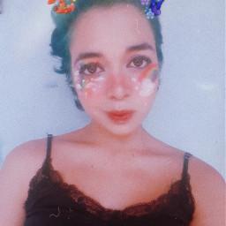 freetoedit rainbow rainbowmakeup egirl