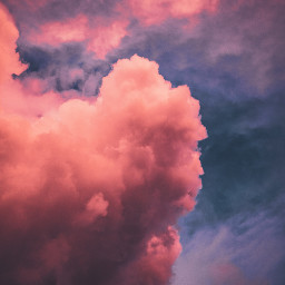 sky clouds pink background backgrounds freetoedit