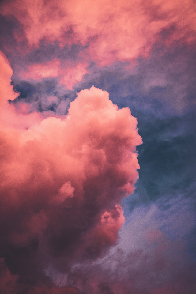 Let your imagination run wild!	 Unsplash (Public Domain) #sky #clouds #pink #background #backgrounds #freetoedit