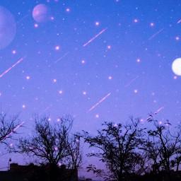 aesthetic freetoedit sky night stars