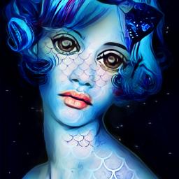 freetoedit scales galaxybowtie portrait blue