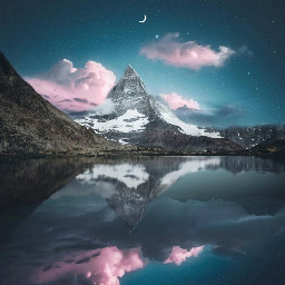 freetoedit nature mountains surreal mirror