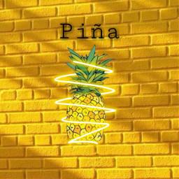 freetoedit piña ladrillos espiral amarillo