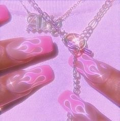 nails necklace pink vintage aesthetic freetoedit