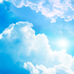 clouds sky blue background backgrounds freetoedit