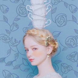 freetoedit blue girl posture balance