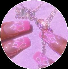 pink aesthetic nail nails freetoedit