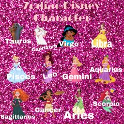 freetoedit disney zodiac zodiacsign