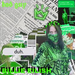 billieeilish aesthetic green freetoedit
