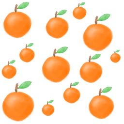 freetoedit orange pattern jeruk fruit