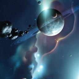 freetoedit espacio universo planetas art