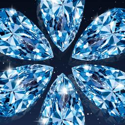 blue diamond jewel gem gemstone