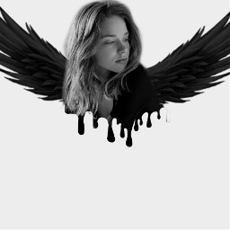 freetoedit black dripart wings