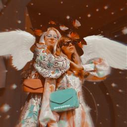 freetoedit stars wings bff girls