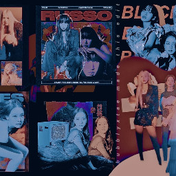 slay_your_style sweetchimchim blackpink jisoo lisa ros jennie bp red orange purple blue kpop kpopedit freetoedit